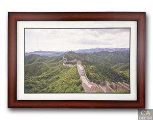 ภาพพร้อม กรอบไม้ กำแพงเมืองจีน