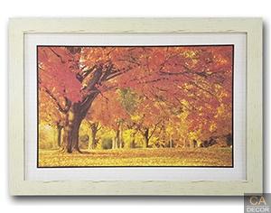 กรอบรูป ภาพใบไม้เหลืองส้ม