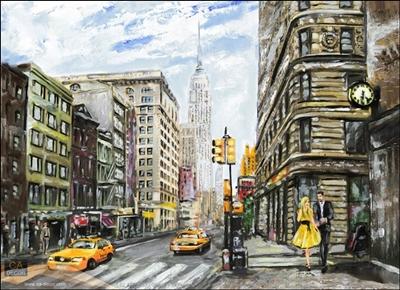 ภาพวาด เมืองนิวยอร์ค