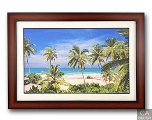 กรอปรูป ภาพชายหาดต้นมะพร้าวสวย