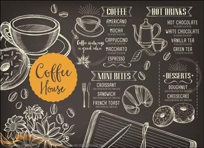 ภาพวาด ร้านกาแฟ