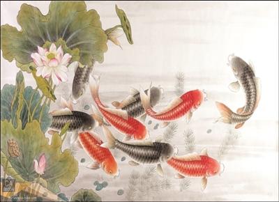 ภาพวาด ฝูงปลาคราฟ