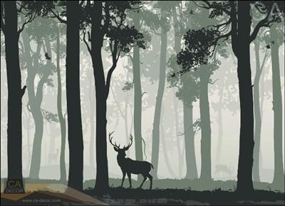 รูปกวางในป่าใหญ่