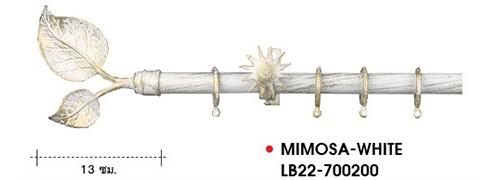 Rod Curtain_European Style_MIMOSA-WHITE-LB22-700200